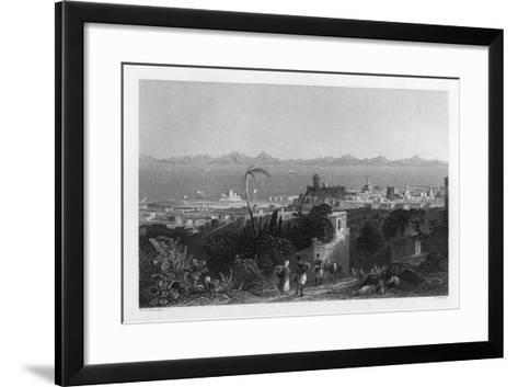 Rhodes, from the Heights Near Sir Sidney Smith's Villa, 1841-W Wallis-Framed Art Print