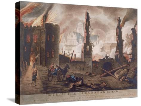 Ludgate, Great Fire of London, London, 1792-William Birch-Stretched Canvas Print