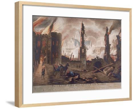 Ludgate, Great Fire of London, London, 1792-William Birch-Framed Art Print