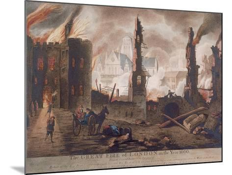 Ludgate, Great Fire of London, London, 1792-William Birch-Mounted Giclee Print