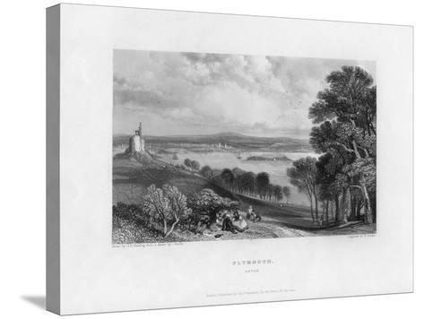 Plymouth, Devon, 19th Century-William Finden-Stretched Canvas Print