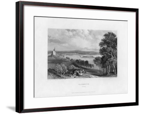 Plymouth, Devon, 19th Century-William Finden-Framed Art Print
