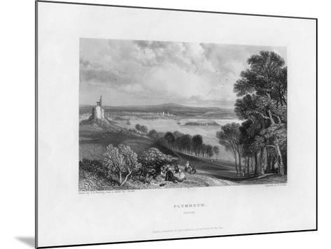Plymouth, Devon, 19th Century-William Finden-Mounted Giclee Print