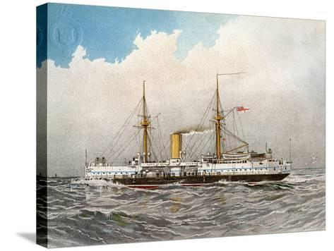 HMS Colossus, Royal Navy 2nd Class Battleship, C1890-C1893-William Frederick Mitchell-Stretched Canvas Print