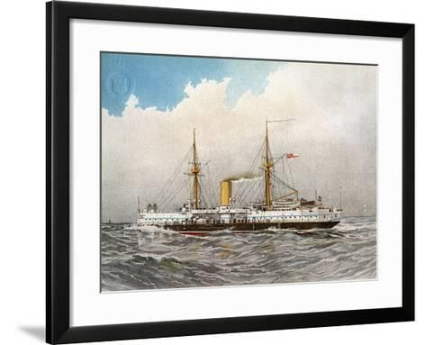 HMS Colossus, Royal Navy 2nd Class Battleship, C1890-C1893-William Frederick Mitchell-Framed Art Print