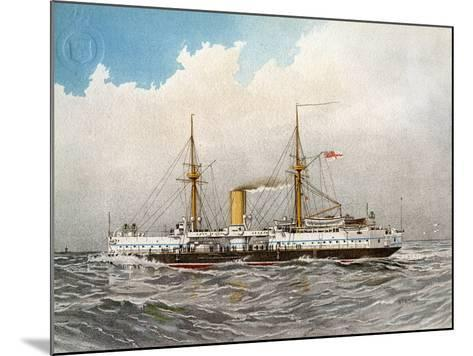 HMS Colossus, Royal Navy 2nd Class Battleship, C1890-C1893-William Frederick Mitchell-Mounted Giclee Print