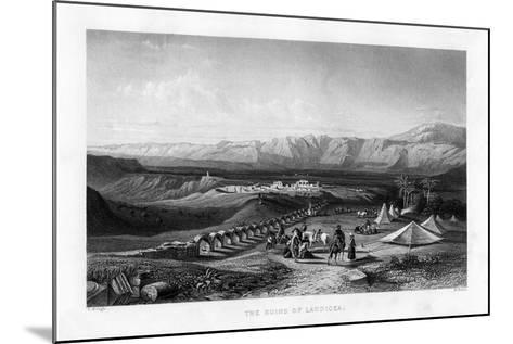 The Ruins of Laodicea, 1887-W Wallis-Mounted Giclee Print