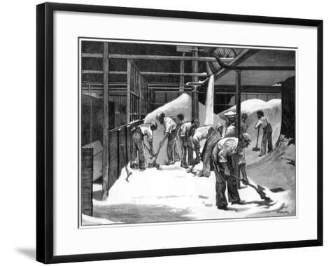 Sugar Making at the Counterslip Refinery, Bristol, 1873-WB Murray-Framed Art Print