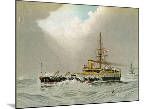 HMS Hero, Royal Navy 2nd Class Battleship, C1890-C1893-William Frederick Mitchell-Mounted Giclee Print