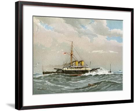 HMS Rodney, Royal Navy 1st Class Battleship, C1890-C1893-William Frederick Mitchell-Framed Art Print
