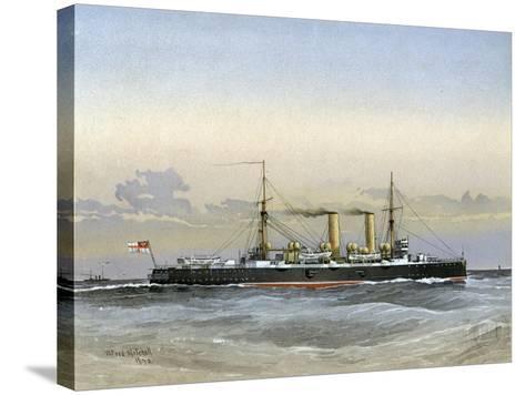 HMS Blenheim, Royal Navy 1st Class Cruiser, 1892-William Frederick Mitchell-Stretched Canvas Print