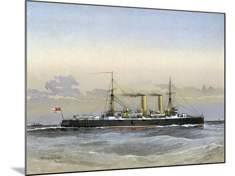 HMS Blenheim, Royal Navy 1st Class Cruiser, 1892-William Frederick Mitchell-Mounted Giclee Print