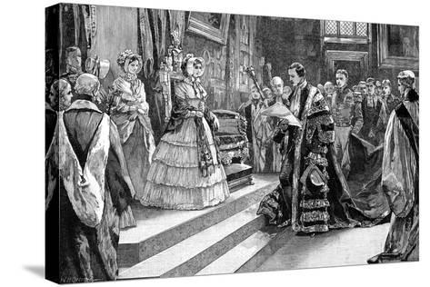 Presentation to the Queen, C1850S-William Heysham Overend-Stretched Canvas Print