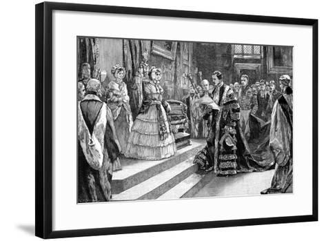 Presentation to the Queen, C1850S-William Heysham Overend-Framed Art Print