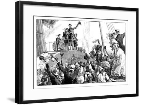 The Queen Leaving Kingstown, Royal Visit to Ireland, C1849-William Heysham Overend-Framed Art Print