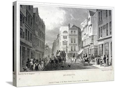 Aldgate, London, 1830-W Wallis-Stretched Canvas Print