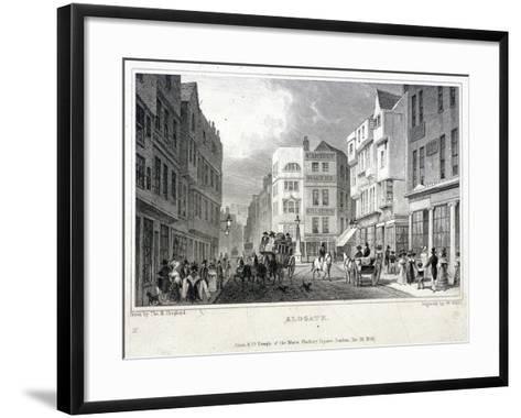 Aldgate, London, 1830-W Wallis-Framed Art Print