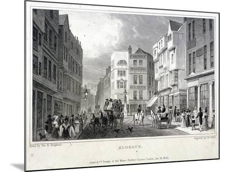 Aldgate, London, 1830-W Wallis-Mounted Giclee Print