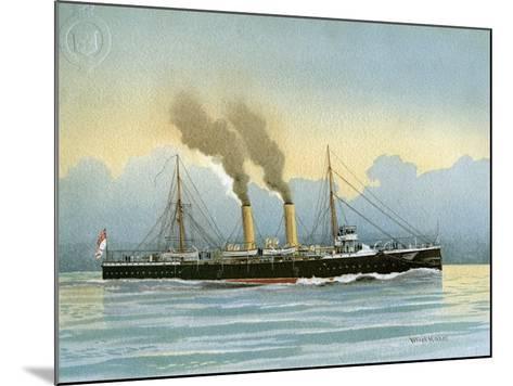 HMS Latona, Royal Navy 2nd Class Cruiser, C1890-C1893-William Frederick Mitchell-Mounted Giclee Print