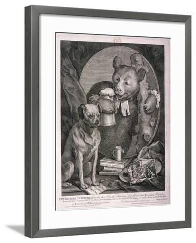 The Bruiser, C. Churchill ... in the Character of a Russian Hercules ..., 1763-William Hogarth-Framed Art Print
