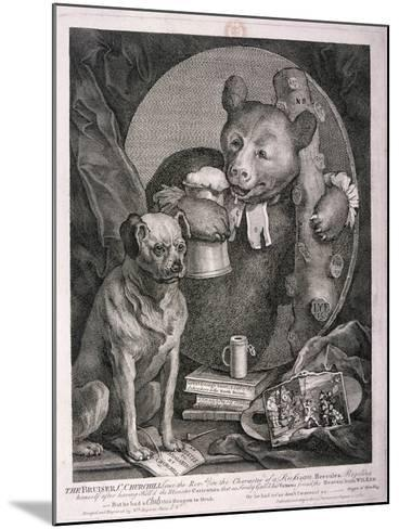 The Bruiser, C. Churchill ... in the Character of a Russian Hercules ..., 1763-William Hogarth-Mounted Giclee Print
