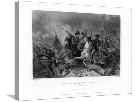 Charge of General Grant, Battle of Shiloh, Tennessee, April 1862, (1862-186)-W Ridgway-Stretched Canvas Print