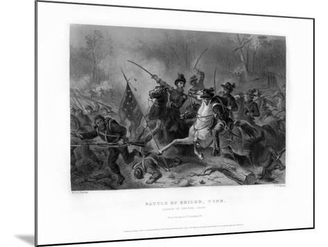 Charge of General Grant, Battle of Shiloh, Tennessee, April 1862, (1862-186)-W Ridgway-Mounted Giclee Print