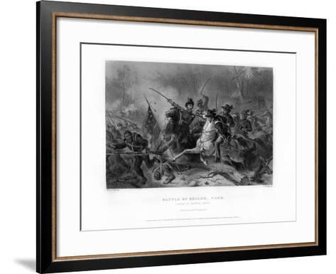 Charge of General Grant, Battle of Shiloh, Tennessee, April 1862, (1862-186)-W Ridgway-Framed Art Print