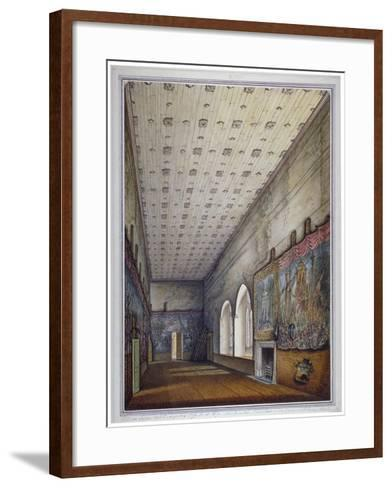 Interior View of the Painted Chamber, Palace of Westminster, London, 1817-William Capon-Framed Art Print