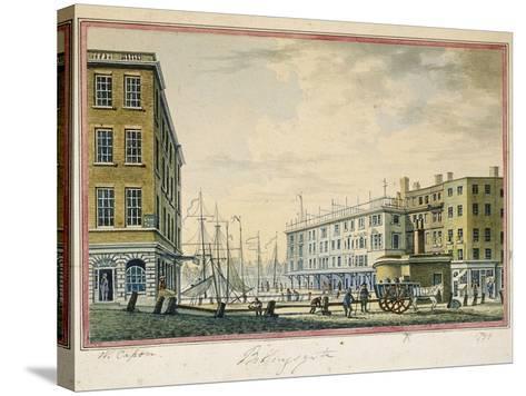 Billingsgate Market, London, 1799-William Capon-Stretched Canvas Print