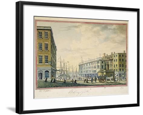 Billingsgate Market, London, 1799-William Capon-Framed Art Print