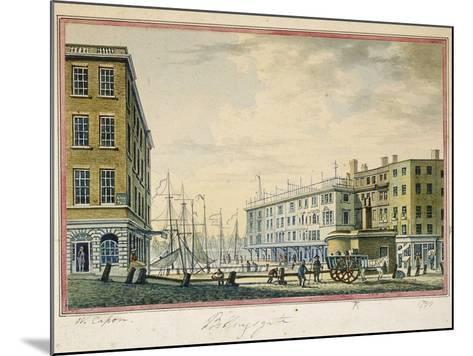 Billingsgate Market, London, 1799-William Capon-Mounted Giclee Print