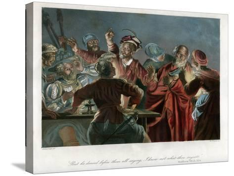 But He Denied before Them All Saying, I Know Not What Thou Sayest, C1850-William French-Stretched Canvas Print
