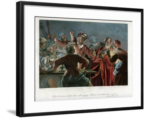 But He Denied before Them All Saying, I Know Not What Thou Sayest, C1850-William French-Framed Art Print