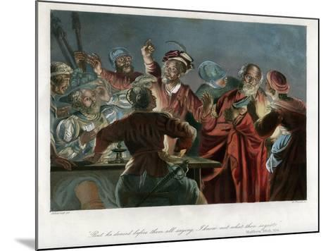 But He Denied before Them All Saying, I Know Not What Thou Sayest, C1850-William French-Mounted Giclee Print