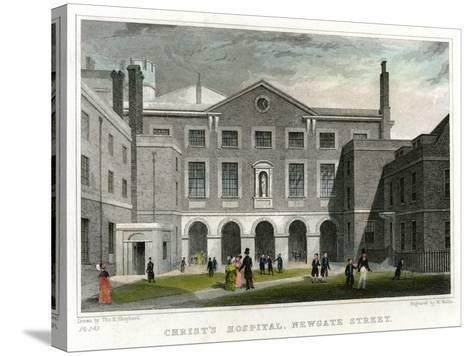 Christ's Hospital School, Newgate Street, City of London, 1831-W Wallis-Stretched Canvas Print