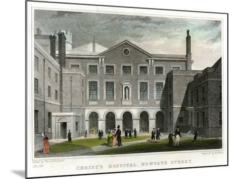 Christ's Hospital School, Newgate Street, City of London, 1831-W Wallis-Mounted Giclee Print