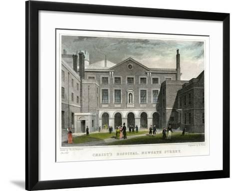 Christ's Hospital School, Newgate Street, City of London, 1831-W Wallis-Framed Art Print