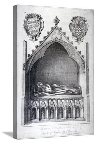 The Tomb of Avaline, Countess of Lancaster, Westminster Abbey, London, 1666-Wenceslaus Hollar-Stretched Canvas Print