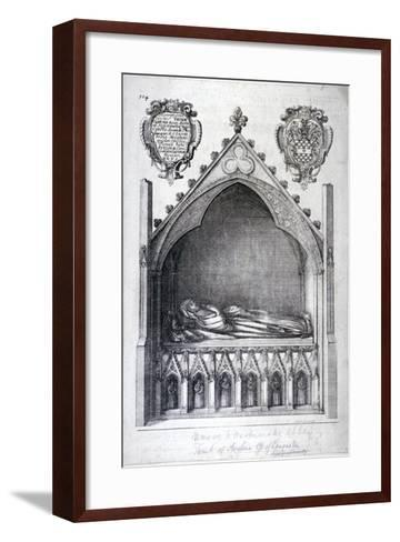 The Tomb of Avaline, Countess of Lancaster, Westminster Abbey, London, 1666-Wenceslaus Hollar-Framed Art Print
