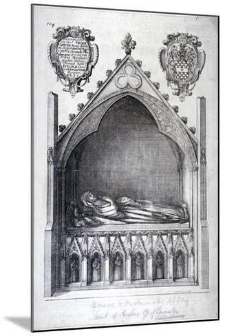 The Tomb of Avaline, Countess of Lancaster, Westminster Abbey, London, 1666-Wenceslaus Hollar-Mounted Giclee Print