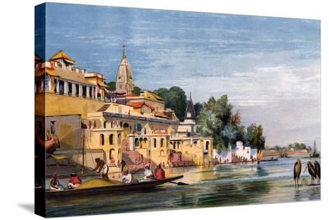 Cawnpore on the Ganges, India, 1857-William Carpenter-Stretched Canvas Print