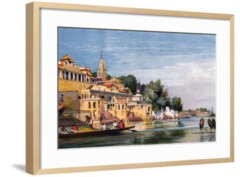 Cawnpore on the Ganges, India, 1857-William Carpenter-Framed Art Print