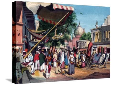 A Street at the Back of Jami Masjid, Delhi, India, 1857-William Carpenter-Stretched Canvas Print
