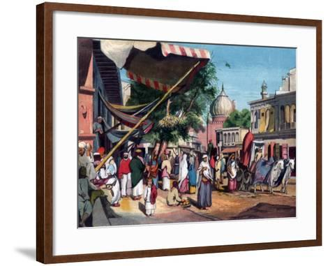 A Street at the Back of Jami Masjid, Delhi, India, 1857-William Carpenter-Framed Art Print