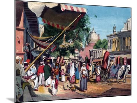 A Street at the Back of Jami Masjid, Delhi, India, 1857-William Carpenter-Mounted Giclee Print