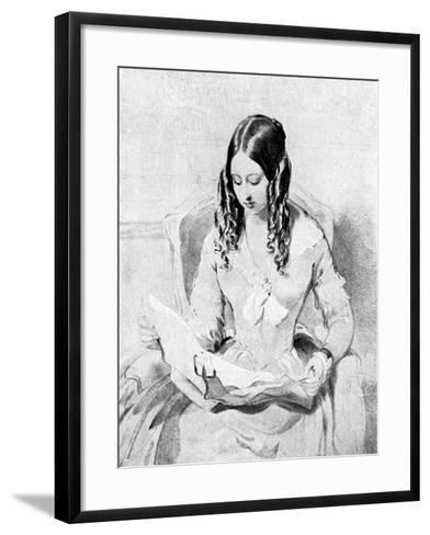 Queen Victoria Reading Despatches, C1840S-William Charles Ross-Framed Art Print