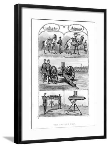 Gatling Rapid Fire Guns, 1862-William George Armstrong-Framed Art Print