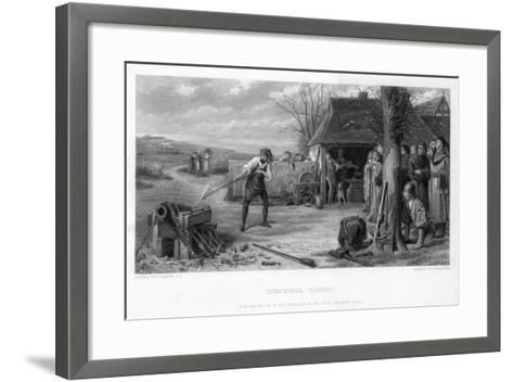 Experimental Gunnery, 19th Century-William Greatbach-Framed Art Print