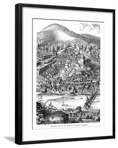 Heidelberg Castle and Town Viewed across the Neckar River, Germany, in 1620--Framed Art Print